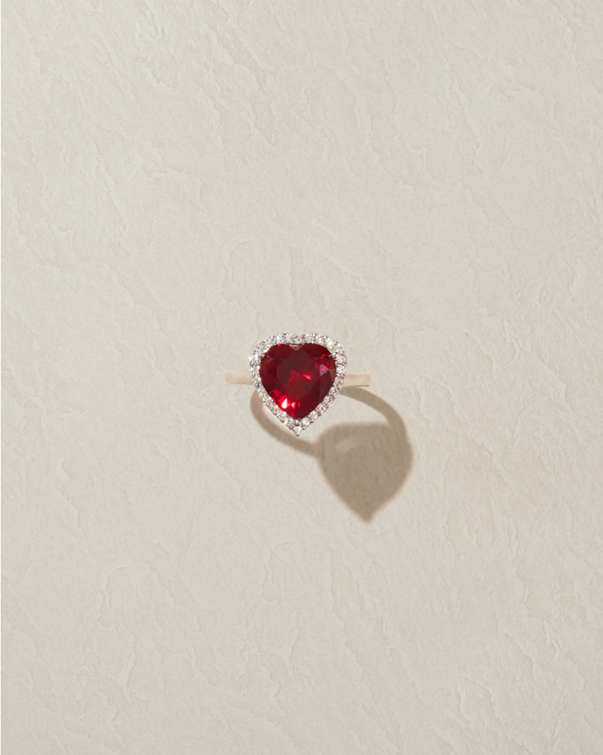 RUBI HEART RING